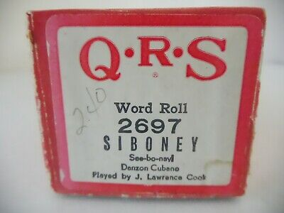 SIBONEY - QRS Player Piano Roll 2697- NO DAMAGE