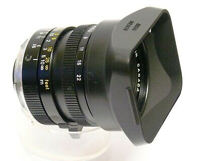 Leica-Leitz Elmarit-M 28Mm F2.8 Wide Angle Lens For Leica M. (Black). Works Fine