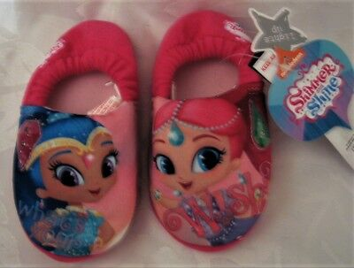 Shimmer & Shine Slippers Girls Toddler Light Up Shoes Size 6/7
