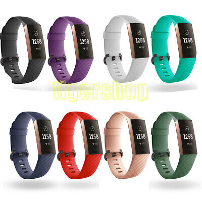 For Fitbit Charge 3 Replacement Silicone Bracelet Watch Band Wrist Strap