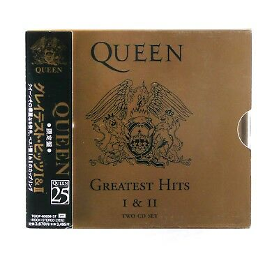 Queen - Greatest Hits 1 & 2 - JAPANESE - Fatbox CD Album - TOCP-65057