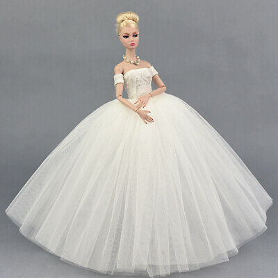 1pc white  Wedding Dress for Barbie Doll also can for licca blythe doll