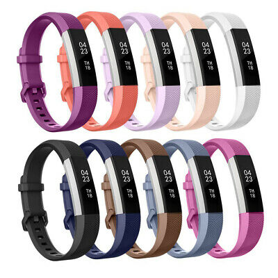 Silicone Wristband Replacement Strap Band Metal Buckle For Fitbit Alta HR SL