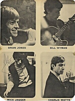 The Rolling Stones - Legendary British Band - Vintage 60's Signed Book Pictures.