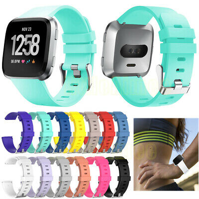 Replacement Silicone Wrist Band Strap For Fitbit Versa Wristband Small Large SL