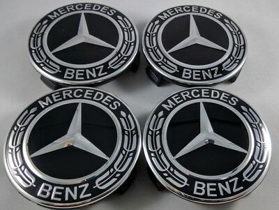 Set 4pz NEW tappi coprimozzi MERCEDES-BENZ classe A B C E GLK 75mm