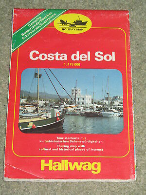Spain: Holiday Map: Costa Del Sol by Hallwag (Sheet map, 1989)
