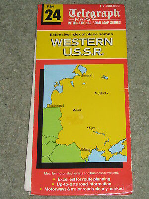 Daily Telegraph  International Road Map: Western U.S.S.R 1987
