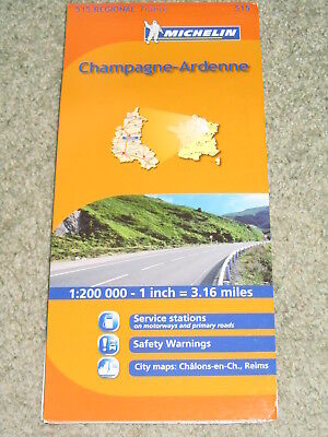 France: Michelin Regional map sheet 515, Champagne & Ardennes, 1:200,000 - 2011