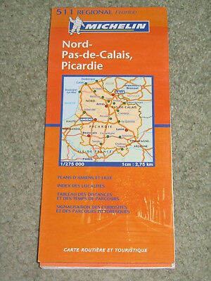France: Michelin Regional map sheet 511, Nord & Picardie, Scale 1:275,000 - 2007