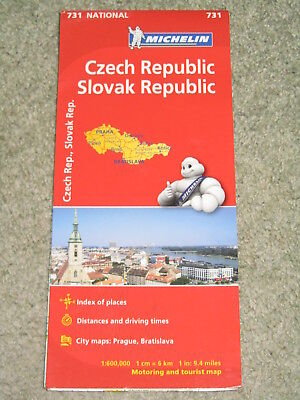 Michelin National map 731 Czech Republic, Slovak Rep. 1:600,000 - 2013 edition