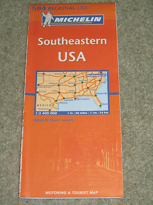 Michelin Regional map 584 South-eastern USA, 1:2,400,000 - 2008 edition