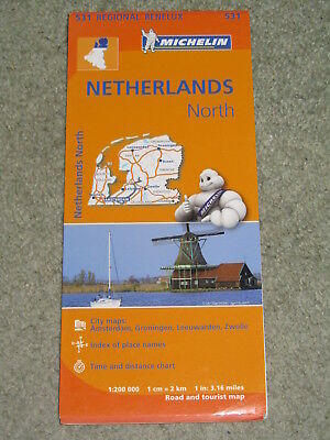 Michelin Regional map 531 Netherlands North, 1:200,000 - 2013 edition
