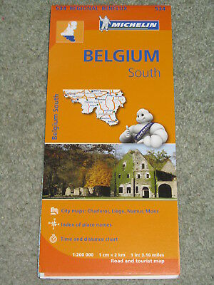 Michelin Regional map 534 Belgium South, 1:200,000 - 2013 edition