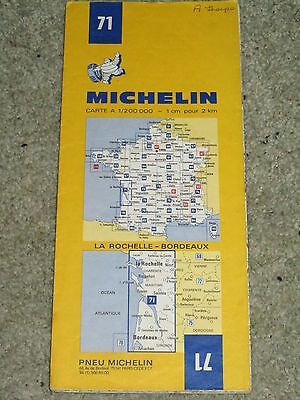 France Michelin map 71: La Rochelle, Royan & Bordeaux 1:200,000. 1975 edition