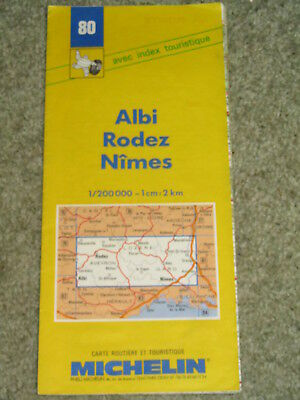 France Michelin map 80: Albi, Rodez & Nimes 1:200,000. 1989 edition