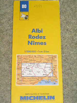 France Michelin map 80: Albi, Rodez & Nimes 1:200,000. 1988/9 edition