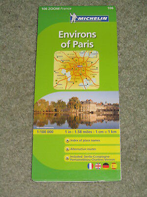 Michelin Local Map 106 Paris & surrounding areas. Scale 1:100,000 - 2012 edition