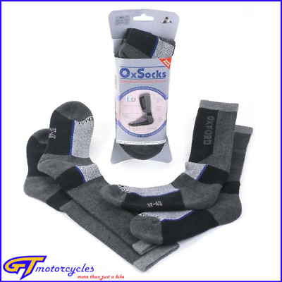 Oxford Oxsocks Motorcycle Thermal Socks | Twin Pack | Large 10-14 | Knee High