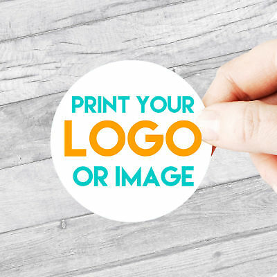 Custom Logo Stickers Large 51mm Circle Personalised Business/Company Name Labels