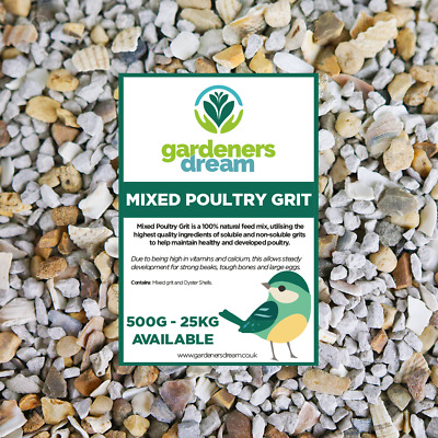 GardenersDream Mixed Poultry Grit - Premium Food With Oyster Shell Animal Feed