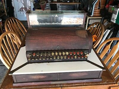 Vintage National Cash Register. Very Nice Two Drawer Example In Original Cond.