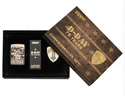 NEW Zippo 75th Anniversary D-Day Commemorative Limited Edition Lighter Gift Set