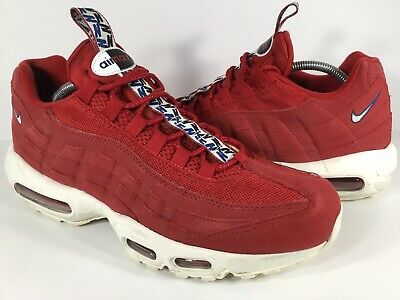 sports shoes 3ec25 86fae Nike Air Max 95 TT Gym Red Sail White Blue Mens Size 11 Rare AJ1844-