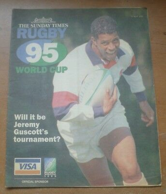Rugby World Cup 1995 Preview Newspaper Guide (The Sunday Times).