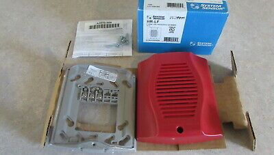 System Sensor HR-LF 2-Wire Low Frequency Sounder 12 24 vdc NIB RED