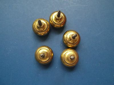 5 Brass Drawer Handles with Integral screws ? 30's