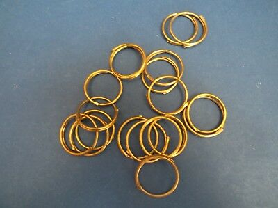 19 Vintage Brass curtain Rings 50's 3.5cm diameter x 1mm thick