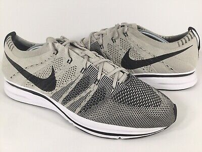 official photos 94d49 6b3bf Nike Flyknit Trainer Pale Grey White Black Mens Size 10 Rare AH8396-001  Running