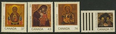 Canada 1222-5 MNH Christmas, Art, Icons