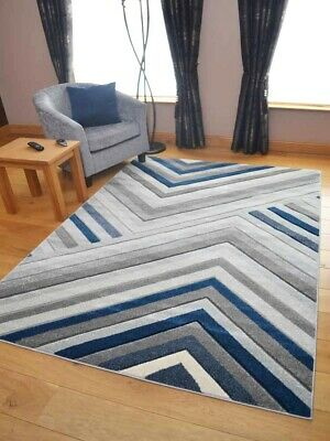 Small Extra Large Size Big Dark Navy Blue Designer Modern Soft Thick Rugs Mats
