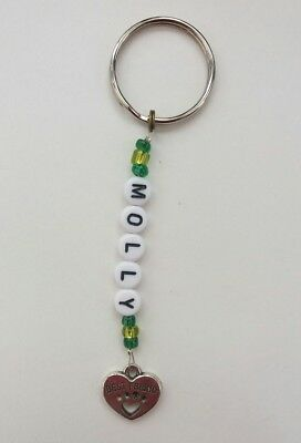 PET LOVERS Best Friend personalised keyring. PAW Print charm. Cat or Dog lovers