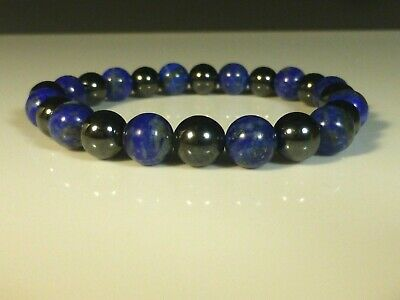Lapis Lazuli HEMATITE BRACELET - HIGH STRENGTH ARTHRITIS pain 8mm