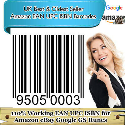 EAN UPC ISBN BARCODES NUMBERS Codes BAR BARCODE Lifetime WorldWide EU US CA Amaz