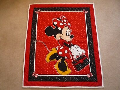 New Handmade Baby/Child Quilt (Blanket)  - Minnie Mouse