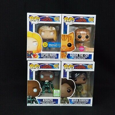 Funko Pop! Movies - Captain Marvel Exclusives and commons