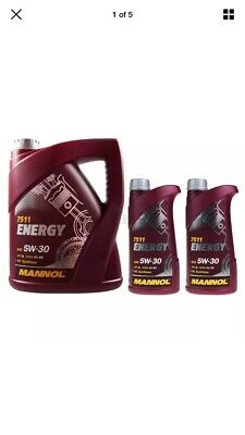 7 L Mannol Energy 5W30 Ford Spec Fully Synthetic Engine Oil Acea A3/B3 Api Sl