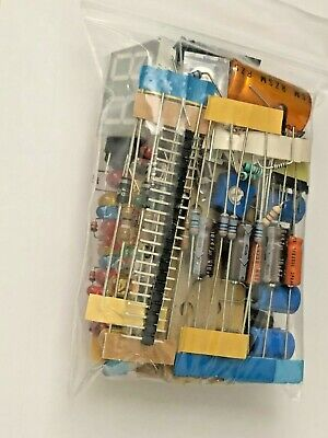 Electronic Components Mixed Grab Bag LOT Caps Resistors Switch LED etc NO PULLS!