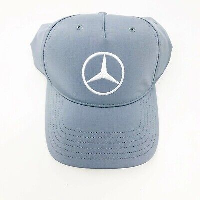 b7402ef9 Mercedes Benz Puma Golf Strapback Hat Cap Gray Embroidered White Crest NEW