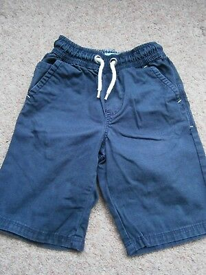 Next Boys Navy Blue Shorts with Elasticated Waist 6yrs