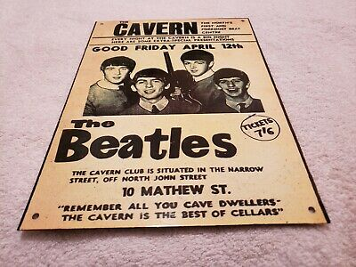 The Beatles Cavern Poster Metal Sign (Pre-Owned) Reproduction!