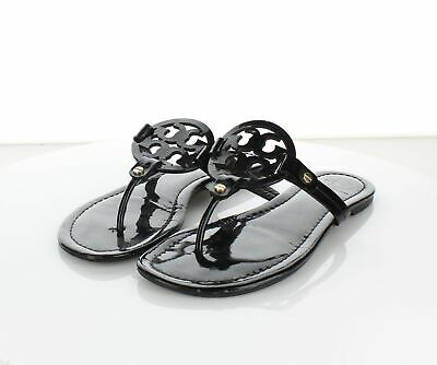 e6516f0f1 3245 Tory Burch Miller Black Patent Leather Thong Strap Sandal Women s Sz 8  M