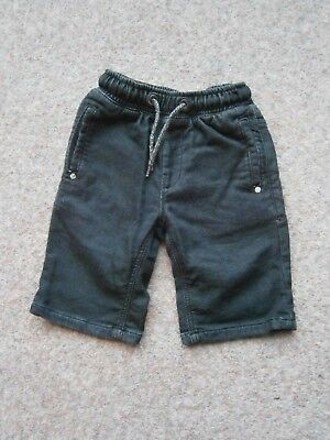 Next Boys Black Shorts with Elasticated Waist 8yrs