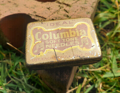"Vintage Columbia ""Ideal"" Soft Tone Gramophone Needles In original Tin"