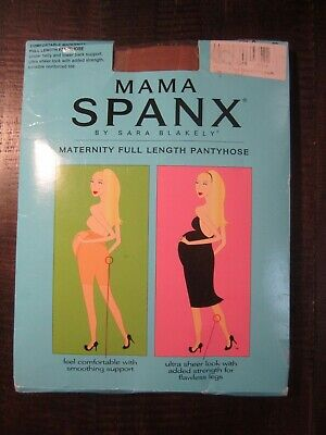 Mama SPANX Pantyhose Size  D  Nude full length maternity reinforced toe