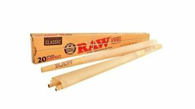 Raw Pre Rolled 20 Stage RAWket Launcher Pack Cigarette Rolling Papers Tobacco